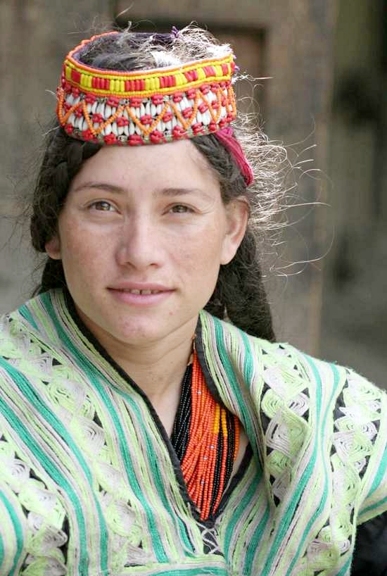 The Kalash people living in
